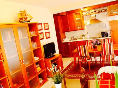 Photo for On the beach, ideal families apartment, 5 people, garage.