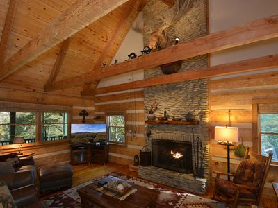 Photo for Available Today – Moose Creek Lodge–Stunning Rustic Luxury – Minutes to Boone