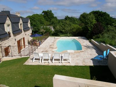 Heated private pool with south facing terraces