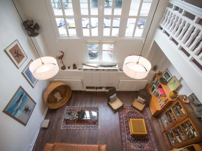 Photo for Eclectic large living space steps from the the Eifel Tower 2bedrs 2,1/2bathrs