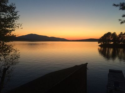 Photo for TWO Cabins on Moosehead Lake with Large Dock and Private Island - 5 BRs + loft
