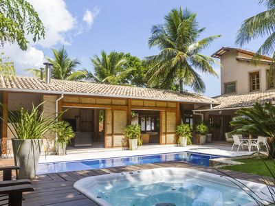 Photo for FEITICEIRA BEACH - LUXURY HOUSE IN THE ONLY CONDOMINIUM CLOSED FRONT SEA ILHABELA