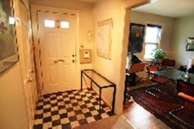 the marble-tiled foyer, and spacious closets to keep your gear handy