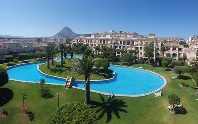 Photo for Lovely 1 bedroom Apartment with WIFI Superb Communal Pool near blue flag beach