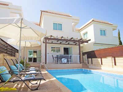 Photo for Nicia Villa - A Charming Villa with Private Pool, Sea Views and just 500 meters to the Beautiful Mimosa Beach ! - Free WiFi