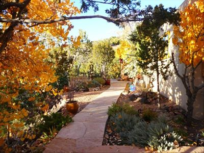 Front path leads to patio, perfect for sunset viewing