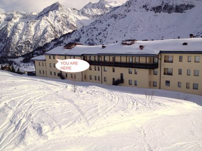 Photo for Passo Del Tonale: Nice apartment in Tonale with direct access to the sky slopes