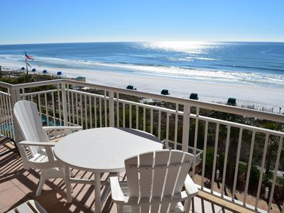 Photo for Middle Unit❤️❤️Watch 🐬🌊🐬 From the Balcony🌞🌊Beachfront✔️🌊 Updated✔️✔️✔️