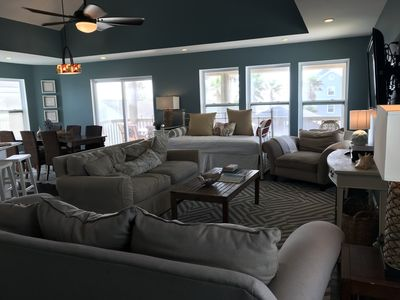Great views from every seat in the upstairs living area.