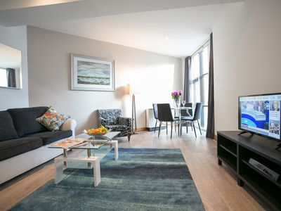 Photo for O'Connell Bridge Spacious, Modern 2 Bed Apart in the Heart of Dublin - sleeps 6