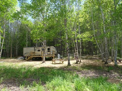 Photo for Fully appointed trailer on private waterfront lot