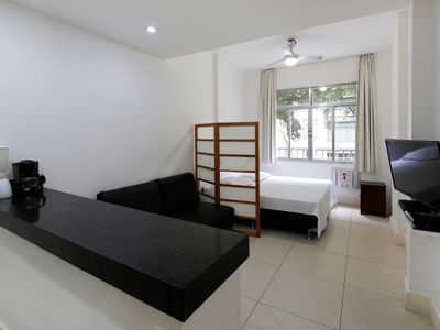 Photo for Renovated studio for 4 persons one block from the beach in Copacabana!