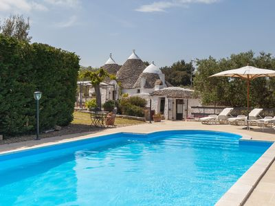 Photo for Trullo - private heated pool - air cond - drone tour & walkthrough available!
