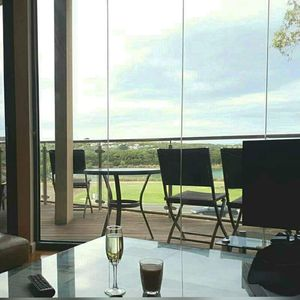 Lounge view of river leading to the Anglesea main beach