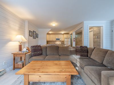 Photo for 2 bedroom ground level condo with private hot tub