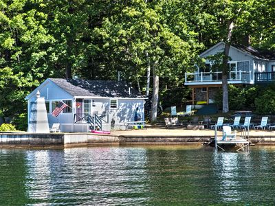 Photo for Lakefront Cottage On Lake Winnipesaukee. On The Water!