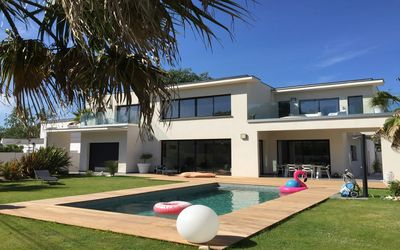 Photo for MAGNIFICENT VILLA BEACH EDGE CAP D'AGDE