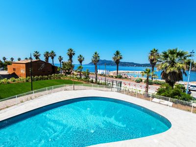 Photo for Beautiful Sea Views! Sunny + Cozy Apartment on the Beach