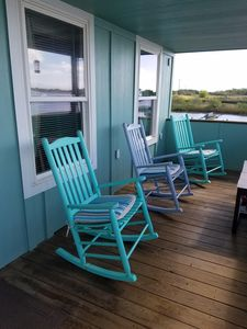 Sit, relax and enjoy the bay views from the back porch!