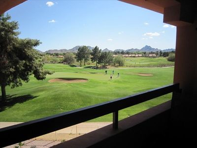 overlooking the golf course and the Phoenix Preserve