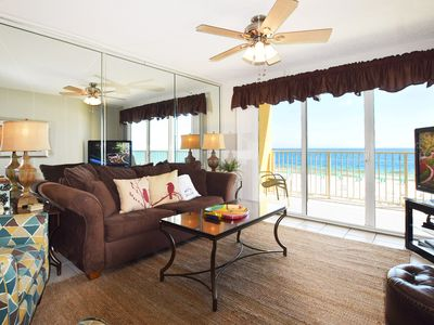 Photo for Direct Ocean View from 4th Floor, Beautiful Beach Condo, Beach Service - gd309