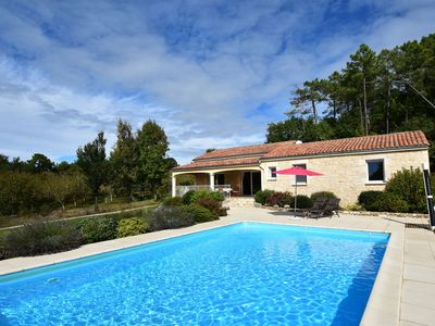 Photo for Holiday home in Montcléra with sunny garden, playground equipment and private pool