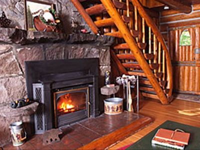 Photo for Romantic Steiner Log Cabin at Mt Hood, Oregon's playground for skiing & hiking
