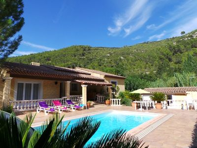 Photo for VILLA PROVENCE LEVEL HEATED POOL 10 PERS, SPA DS Enclosed property