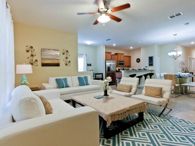 Photo for Enjoy Orlando With Us - Paradise Palms Resort - Feature Packed Cozy 5 Beds 4 Baths  Pool Villa - 4 Miles To Disney