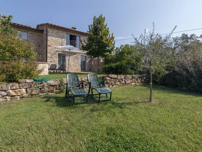 Photo for Sustainable geothermal country villa with amazing views over Chianti hills