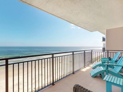 Photo for Direct waterfront condo w/ a shared pool, furnished balcony, & amazing views