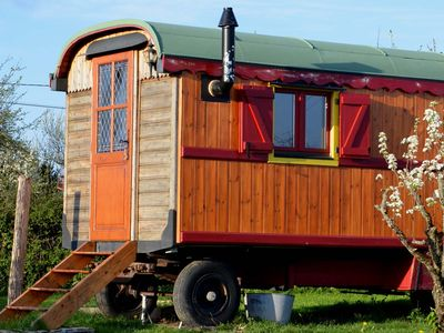 Photo for Original cottage in a fairground caravan on private land near Cluny