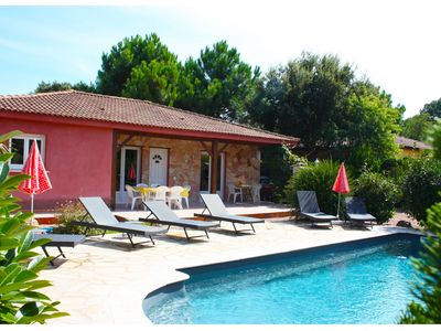 Photo for Villa, private pool- 2.953 feet from the Cala Rossa beach - sleeps 6 to 8 -