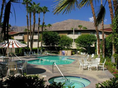 Photo for Palm Springs Condo in  Biarritz w/ Large Swimming Pool, Spa & Tennis Courts