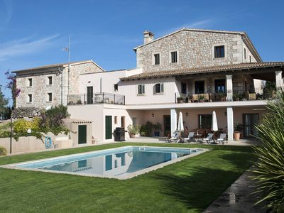 Photo for This 6-bedroom villa for up to 12 guests is located in Manacor and has a private swimming pool, air-