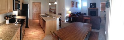 Kitchen / Living / Dining area with mountain views
