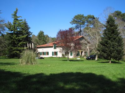 Photo for Rare forest house (1290ft², bedroom 485ft²), untouched nature with swimming lake