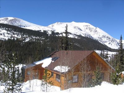 Photo for Aspen View - Beautiful Log Home with National forest and your own babbling brook