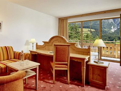 "Photo for Double Room ""Panorama Room"", Shower, Toilet - Riederalm, Hotel Restaurant"