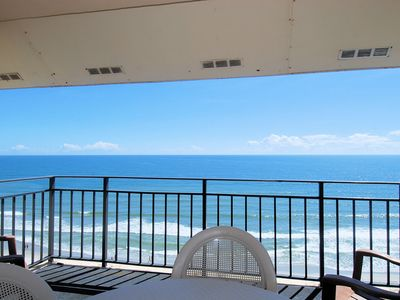Photo for Oceanfront condo, wireless internet, outdoor pool, washer dryer,close to all!