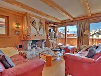Photo for Nice 4 piece apartment on 1st floor, in the Center of Verbier.  Composition :  • Living room to