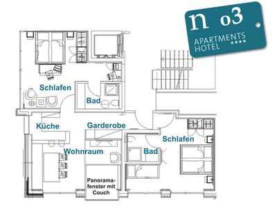 Photo for n 03 2-5 persons - ground floor - approx. 77 m2 - Our terrace queen for evening sun fans - n apartments