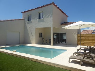 Photo for new villa with pool on the palm
