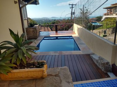 Photo for Geribá Casa 4 Qtos, pool, barbecue with spectacular view 5 min from the beach