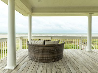 Photo for Waterfront home w/ wraparound deck, patio, & private beach access - two dogs OK!