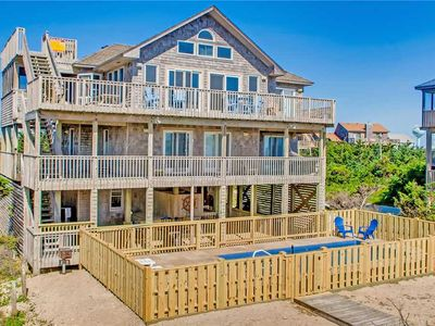 Photo for Captivating Oceanfront View-NEW Private Pool, Hot Tub, Beach Bwalk, Dog-Friendly