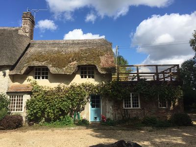 Photo for A Stunning Dorset Thatched Cottage - Dog Friendly