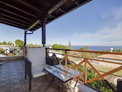 Photo for BEAUTIFUL MAISONETTE WITH VIEW IN KASSANDRA