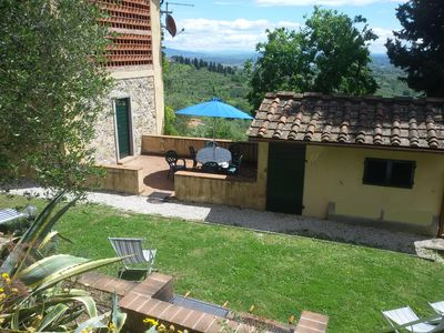 Private Garden of Fiordaliso with nice super view  terrace