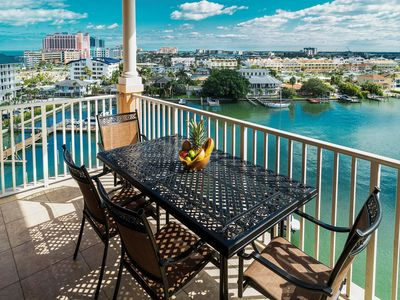 Beautiful harbor views from this vacation rental at Clearwater Beach